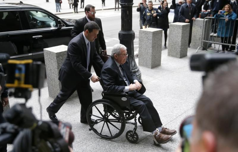 Former House Speaker Dennis Hastert arrives at the federal courthouse Wednesday, April 27, 2016, in Chicago, for his sentencing on federal banking charges which he pled guilty to last year.