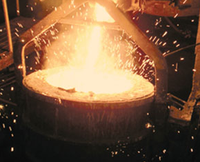 Casting process at Alloy Engineering & Casting, Champaign.