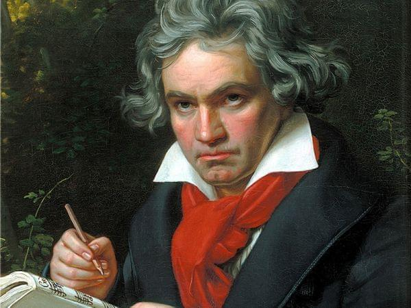 Portrait of Ludwig van Beethoven when composing the Missa Solemnis