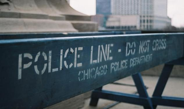 A police line erected in Chicago.