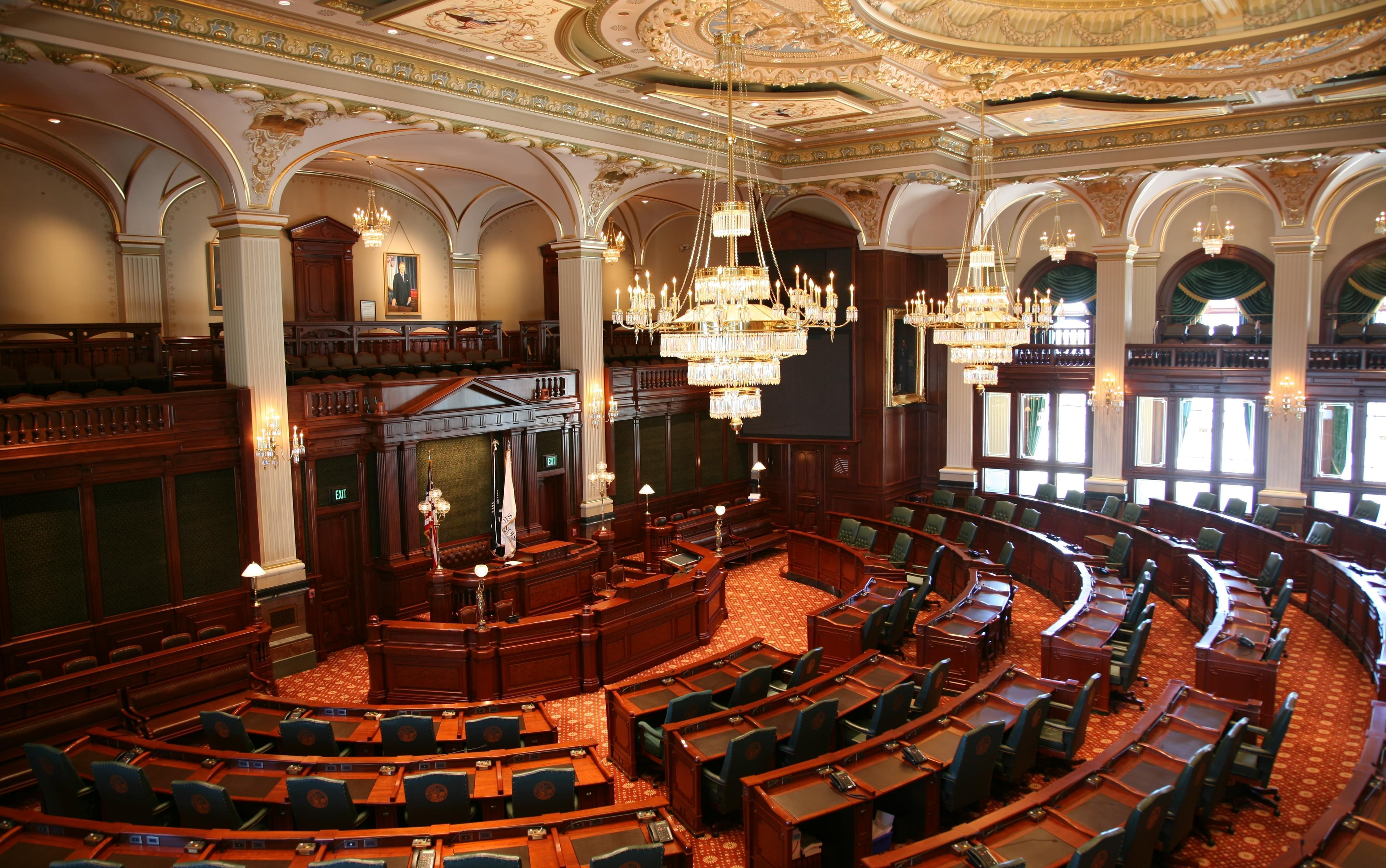 The Illinois House chamber.