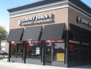 A Jimmy John's location on University Avenue in Urbana.