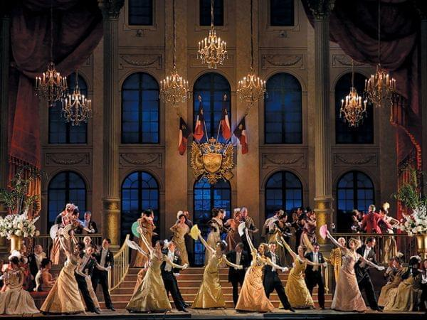 Performing The Merry Widow on stage