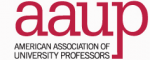 Logo for the American Association of University Professors.