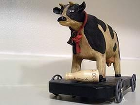 Vintage cow shaped creamer