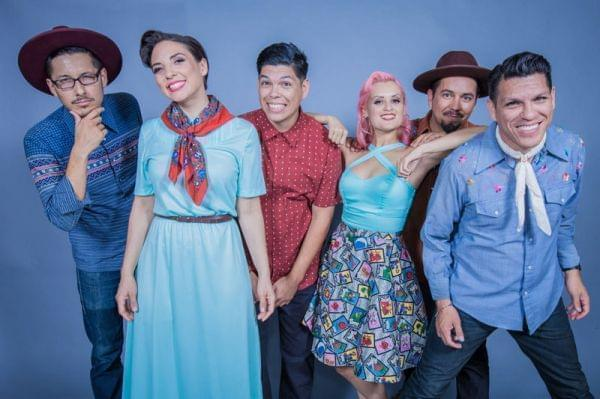 A photo of the band Las Cafeteras