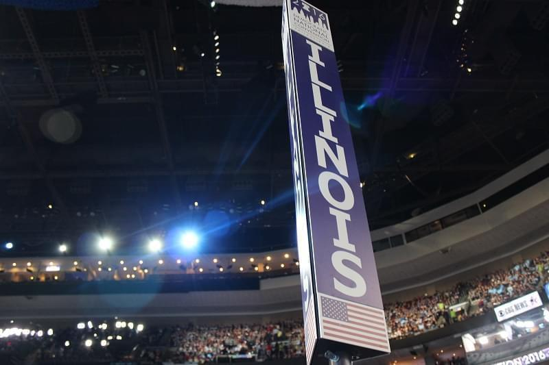 The Illinois sign at the Democratic National Convention in Philadelphia.