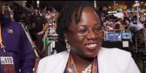 Carol Ammons at the Democratic National Convention in Philadelphia.