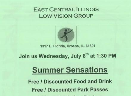 Poster for PACE's Low Vision support group.