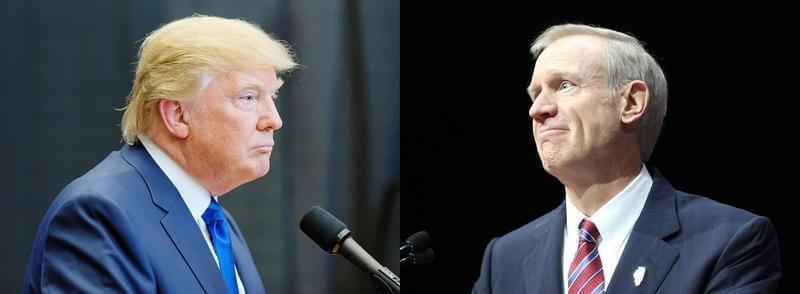 Donald Trump and Illinois Gov. Bruce Rauner