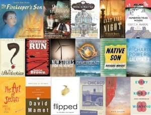 Collage of book covers by Illinois authors