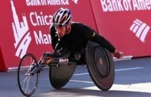 The U of I's Josh George, winner of Chicago Marathons in 2003, 2004, 2006, and 2014.