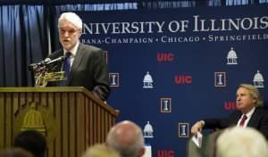University of Illinois President-designate Timothy L. Killeen at UIS.