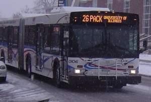 A Champaign-Urbana Mass Transit District Bus.