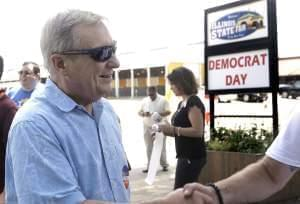 Illinois U.S. Sen. Dick Durbin participates in a political rally during Democrats Day at the Illinois State Fair Thursday, Aug. 18, 2016, in Springfield, Ill.