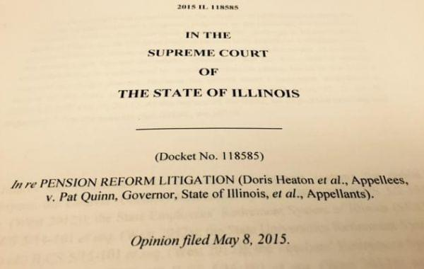 A previous pension law was ruled unconstitutional by the Illinois Supreme Court.