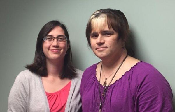L-R: Transgender health services advocate Bethany Hillman and transgender resident Darcia Ostling.