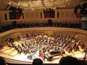 Chicago Symphony Orchestra performs to a packed house at Symphony Center.