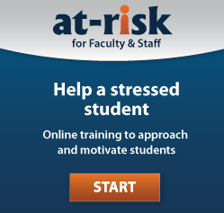 Opening page to 'Kognito At-Risk' a new online simulation program offered by the U of I's Counseling Center.