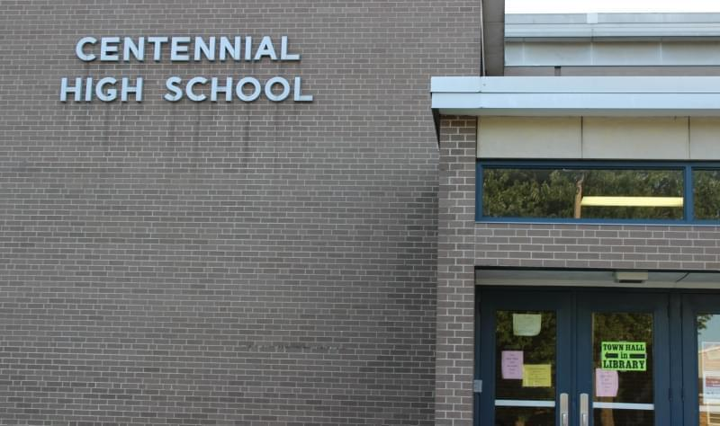 Champaign Centennial High School, where the District's teachers union approved a strike authorization vote Wednesday.
