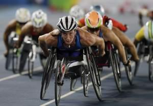 United States' Tatyana McFadden competes in the women's 1500-meter T54 athletics event at the Paralympic Games in Rio de Janeiro, Brazil, Tuesday. McFadden won the gold medal.