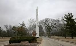 Entrance to the former Chanute Air Force Base in Rantoul, Ill.