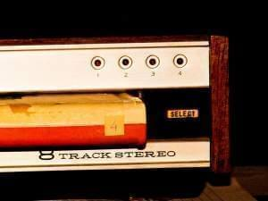 8-track tape player