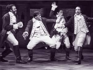 4 characters from Hamilton's America, including Hamilton