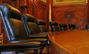 Chairs for justices of the Illinois Supreme Court.