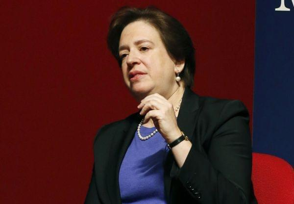 In this Dec. 15, 2014, file photo, U.S. Supreme Court Justice Elena Kagan at the University of Mississippi in Oxford, Miss.