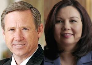 Republican U.S.Senator Mark Kirk and Democratic challenger and U.S. Rep. Tammy Duckworth.