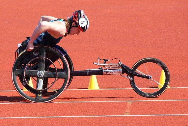 Tatyana McFadden competing in the 2009 Paralympic World Cup