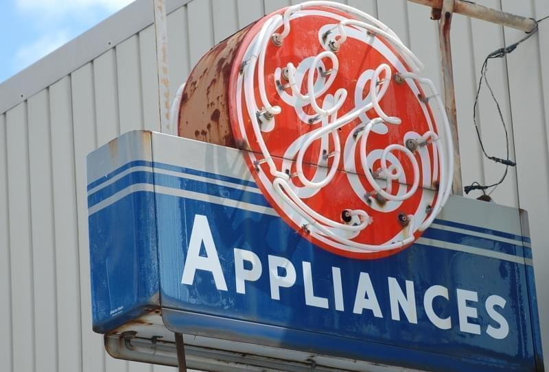 General Electric neon sign.