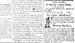 Advertisement of sale of enslaved person in the Illinois Reporter, Dec. 12, 1826.