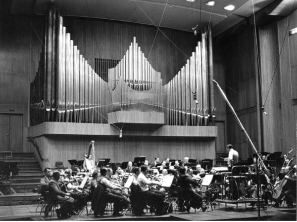 A man conducting an orchestra