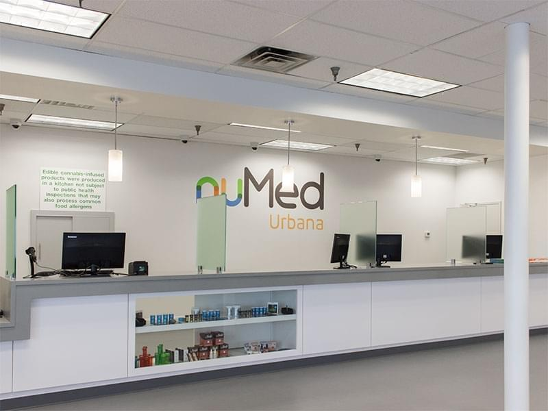 The patient service desk at Nu Med, a medical marijuana dispensary that opens next week in Urbana.