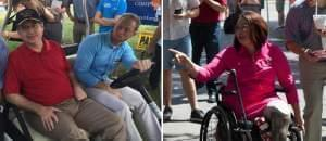 Republican Sen. Mark Kirk and Democratic U.S. Rep. Tammy Duckworth