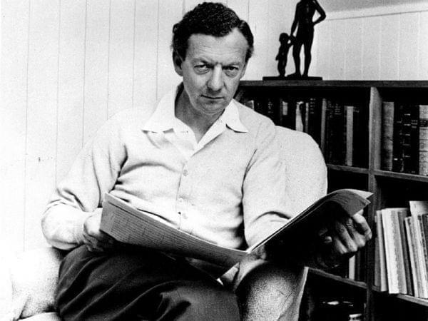 Publicity photograph of British composer Benjamin Britten