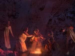 The crucible being performed on stage