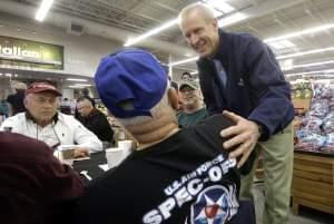 Illinois Governor Bruce Rauner at a Veteran's Day event in Springfield.