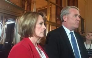 Senate Republican Leader Christine Radogono and House Republican Leader Jim Durkin.
