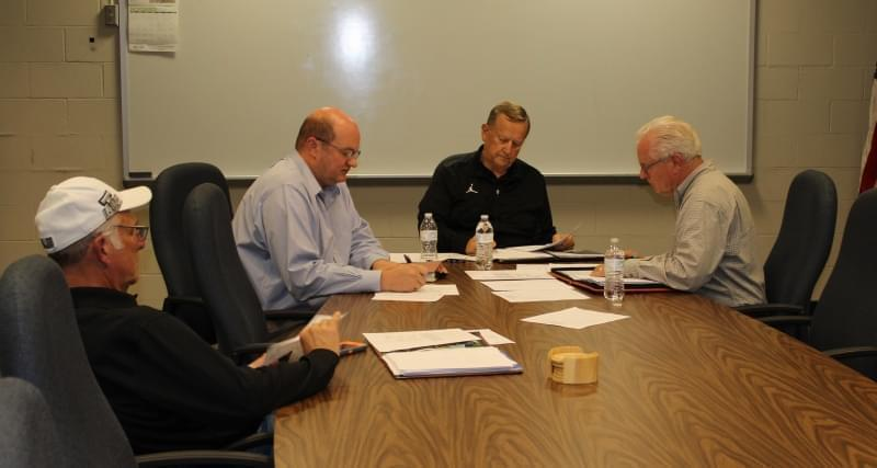 Members of the Rantoul Park Board during their final meeting.