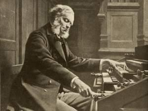 César Franck at the console, painting by Jeanne Rongier, 1885