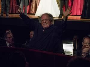 Levine in the orchestra pit of the Metropolitan Opera House in 2013