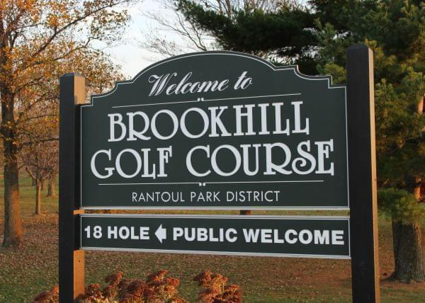 Sign at entrance to Brookhill Golf Course