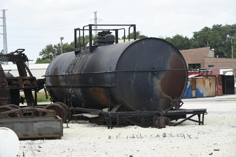 A rail tank car at the Illinois Fire Service Institute.