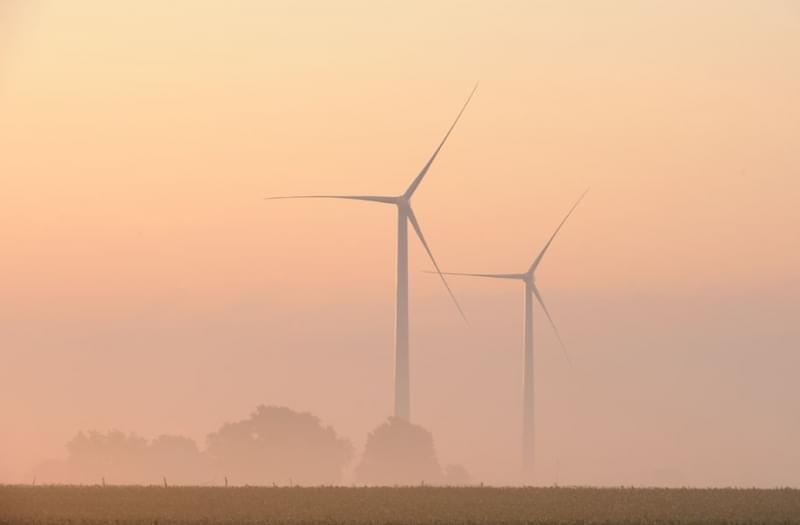 The Rail Splitter Wind Farm near Lincoln, Illinois.
