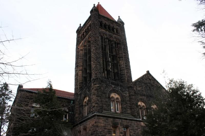 The Altgeld Hall bell tower, on the University of Illinois Urbana campus quad.
