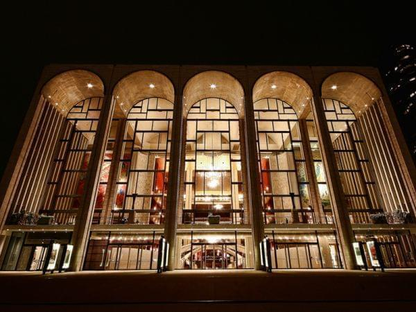 Outside the Metropolitan Opera