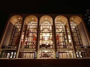 Outside the Metropolitan Opera